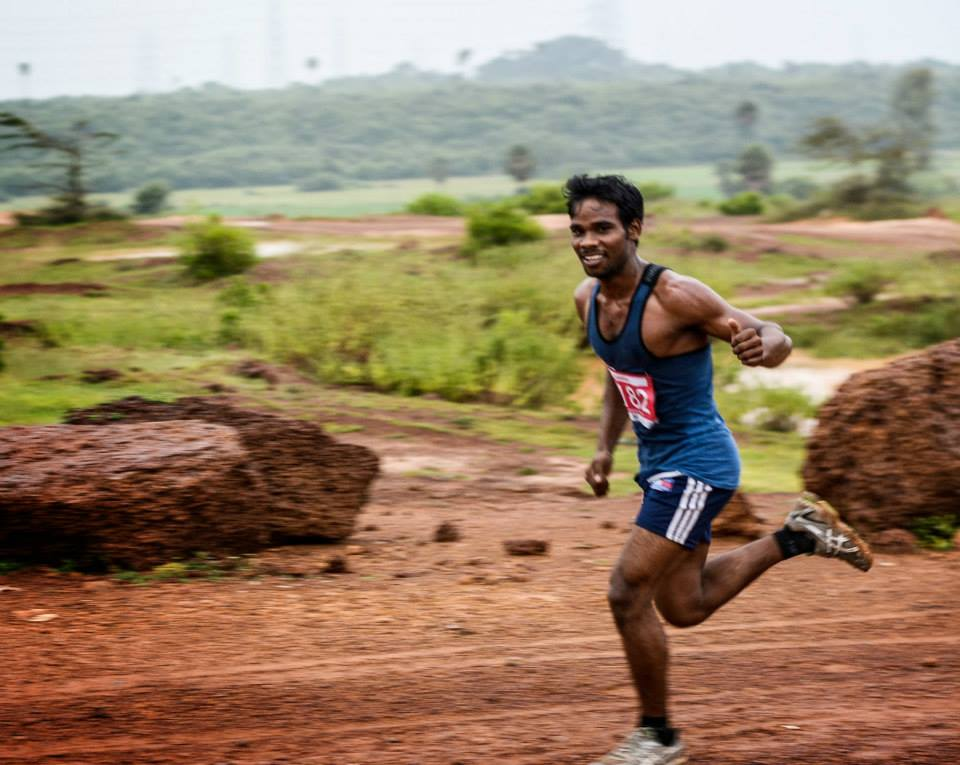 Winner of chennai trail marathon 2013