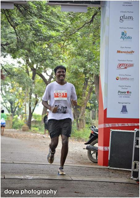Finishing Photo - Chennai Marathon