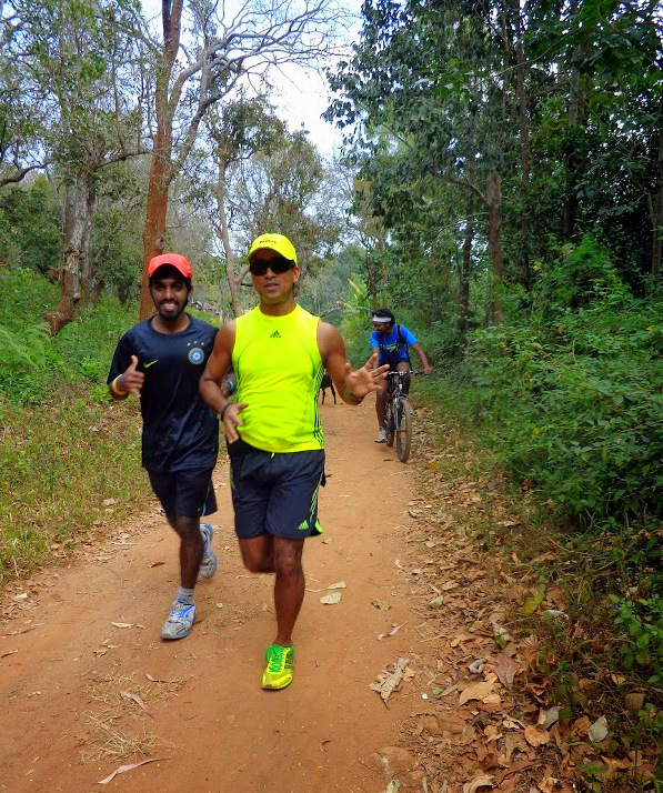 Abhijit and Surya on the trail